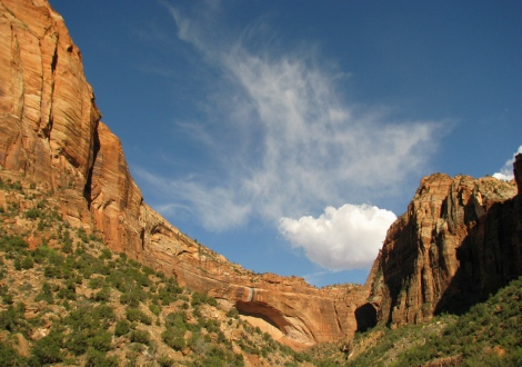 going up on the Zion - Mt. Carmel Highway