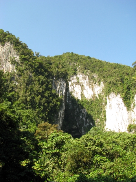 the entrance to Deer Cave